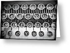 Vintage Typewriter Greeting Card by Edward Fielding
