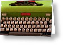 Vintage Typewriter - Painterly Greeting Card by Wingsdomain Art and Photography