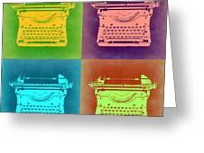 Vintage Typewriter Pop Art 1 Greeting Card