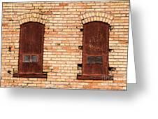 Vintage Urban Brick Building - Salt Lake City Greeting Card