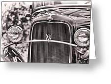 Vintage V8 Greeting Card