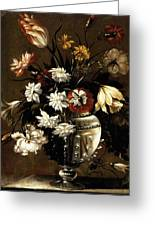Vintage Vase Of Flowers C1650 Greeting Card