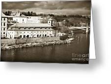 Vintage Vltava Greeting Card