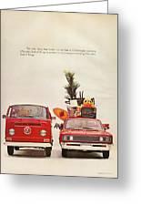 Vintage Volkswagen Camper Van  Greeting Card