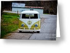Vintage Volkswagen Bus Greeting Card