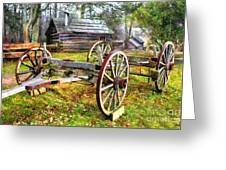 Vintage Wagon On Blue Ridge Parkway I Greeting Card by Dan Carmichael