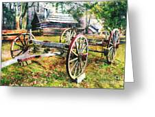 Vintage Wagon On Blue Ridge Parkway II Greeting Card by Dan Carmichael