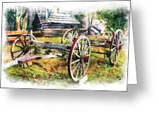 Vintage Wagon On Blue Ridge Parkway IIi Greeting Card by Dan Carmichael