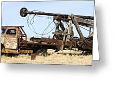 Vintage Water Well Drilling Truck Greeting Card