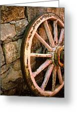 Vintage Wheel Greeting Card