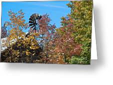 Vintage Wind Power Greeting Card