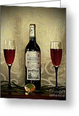 Vintage Wine Lovers Greeting Card by Inspired Nature Photography Fine Art Photography