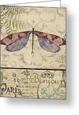 Vintage Wings-paris-f Greeting Card