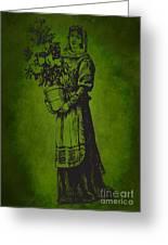 Vintage Women Color Art 13 Greeting Card