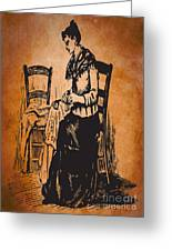 Vintage Women Color Art 14 Greeting Card