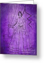 Vintage Women Color Art 16 Greeting Card