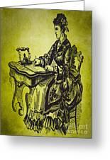 Vintage Women Color Art 53 Greeting Card