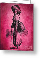 Vintage Women Color Art 72 Greeting Card