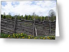 Vintage Wooden Fence Greeting Card