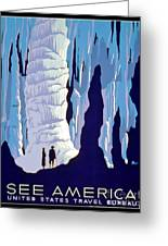 Vintage Wpa Poster See America Greeting Card by Edward Fielding