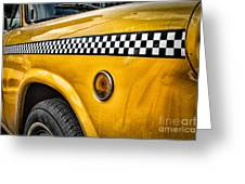 Vintage Yellow Cab Greeting Card