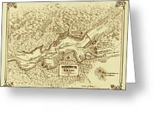Vintage Yosemite Map 1870 Greeting Card