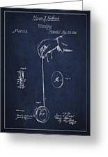 Vintage Yoyo Patent Drawing From 1866 Greeting Card