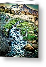 Vintaged Mount Hood Postcard Greeting Card