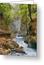 Vintgar Gorge Greeting Card