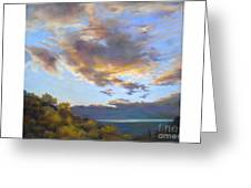 Vinuela Sunset Greeting Card by Heather Harman