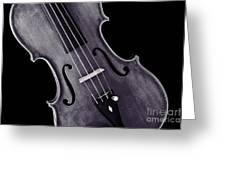 Viola Violin Photograph Strings Bridge In Sepia 3263.01 Greeting Card