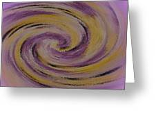 Violet And Yellow In Motion Greeting Card