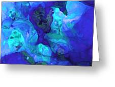 Violet Blue - Abstract Art By Sharon Cummings Greeting Card