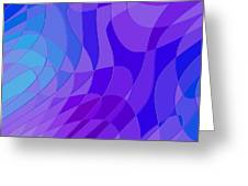 Violet Blue Abstract Greeting Card