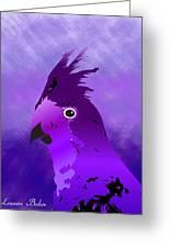 Violet Cockatiel Greeting Card