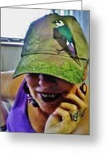 Violet-green Swallow Cap Greeting Card
