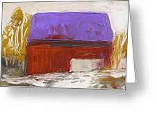Violet Roof Greeting Card