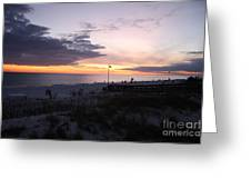 Violet Sunset Over The Sea Greeting Card