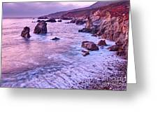 Violet Tides - Rocky Coast From Soberanes Point In Garrapata State  Greeting Card