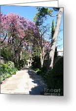 Violet Tree Alley Greeting Card