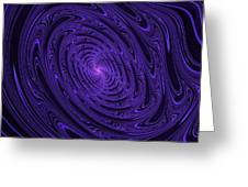 Violet Vortex-3 Greeting Card