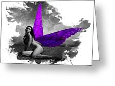 Violet Wings Greeting Card