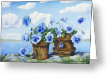 Violets On The Beach Greeting Card