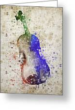 Violin Greeting Card by Aged Pixel