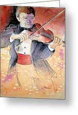 Violin Man Greeting Card