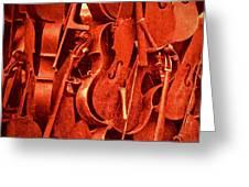 Violin Sculpture  Greeting Card