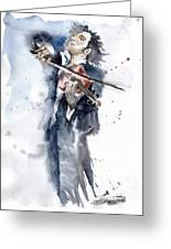 Violine Player 1 Greeting Card by Yuriy  Shevchuk