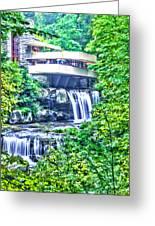 Viracious Falling Waters  Greeting Card