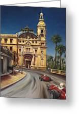 Virage De Massenet - 1959 Grand Prix De Monaco Greeting Card