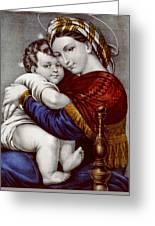 Virgin And Child Circa 1856  Greeting Card